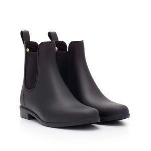 Sam Edelman Tinsley Rubber Black Rain Boots - 8